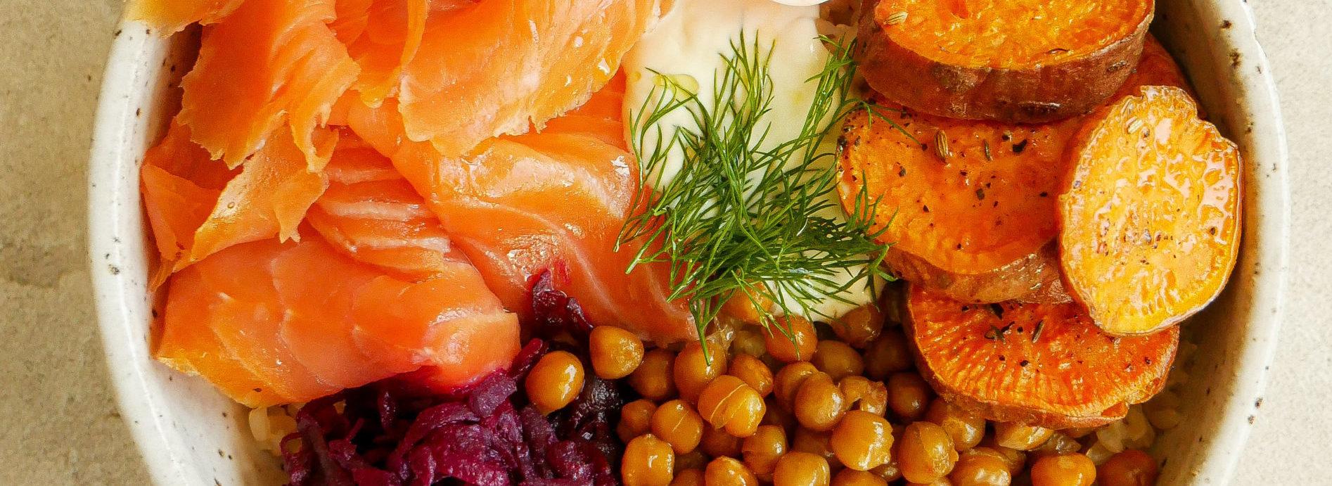 Smoked Tasmanian Salmon Lunch Bowl