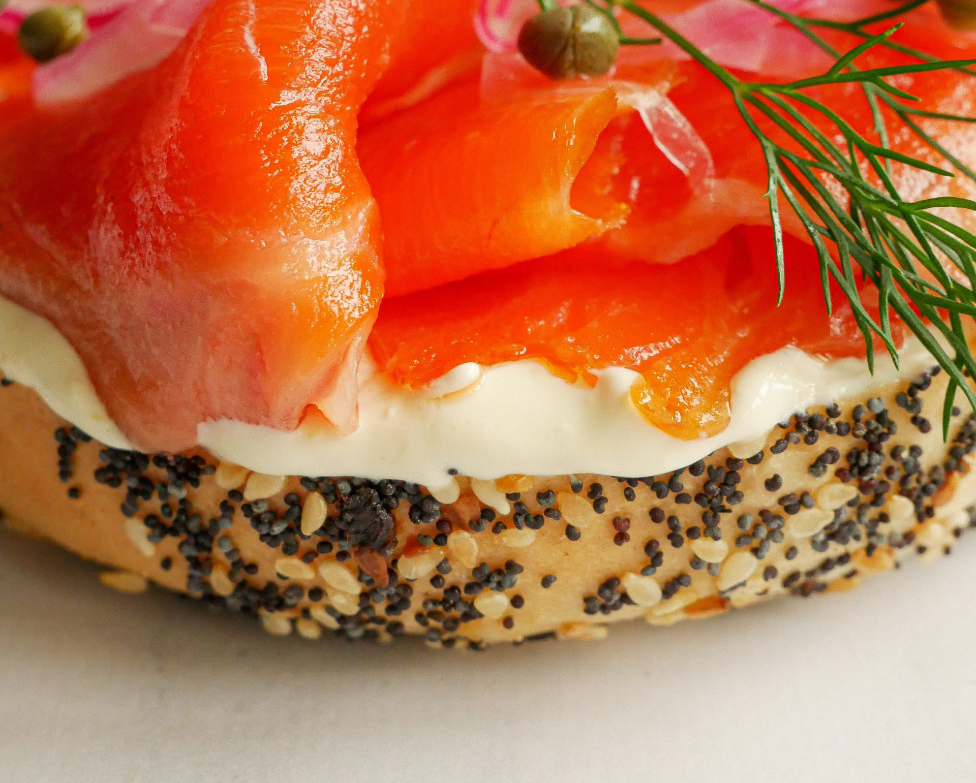 Tasmanian Smoked Ocean Trout Bagel with Whipped Ricotta & Cream Cheese